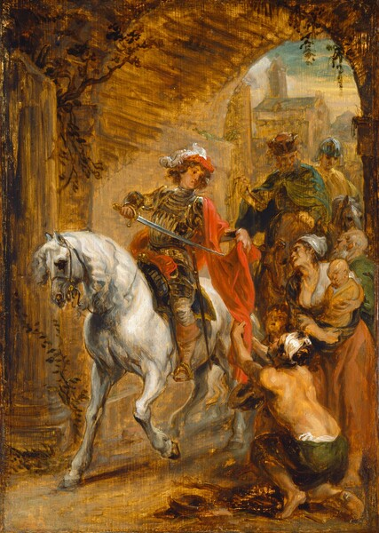 Saint Martin Dividing His Cloak