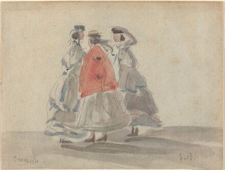 Three Women at Trouville