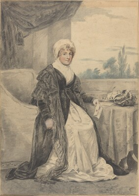 Woman Seated at a Table, Holding a Letter