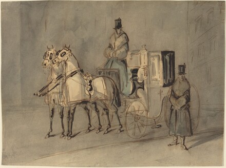 Carriage with Driver and Groom: Autumn