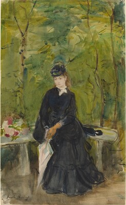 The Artist's Sister Edma Seated in a Park