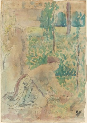 Woman Working in a Garden