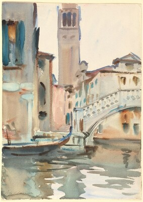 A Bridge and Campanile, Venice