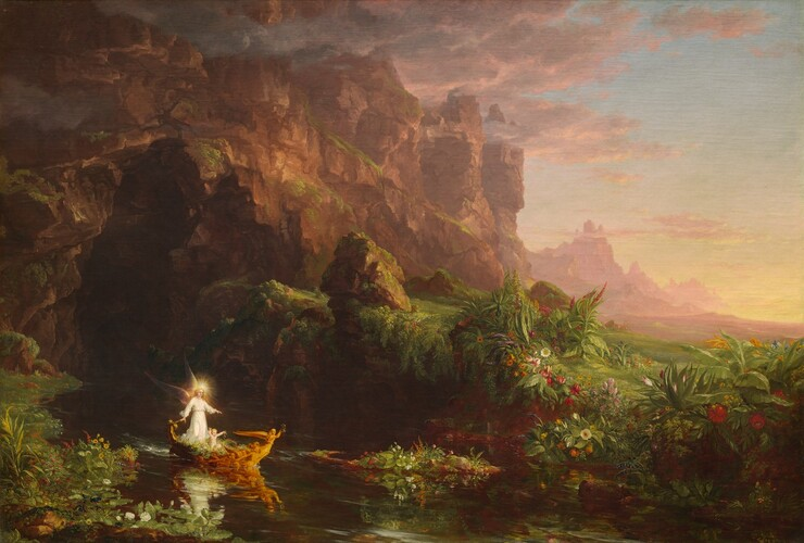 Thomas Cole, The Voyage of Life: Childhood, 1842
