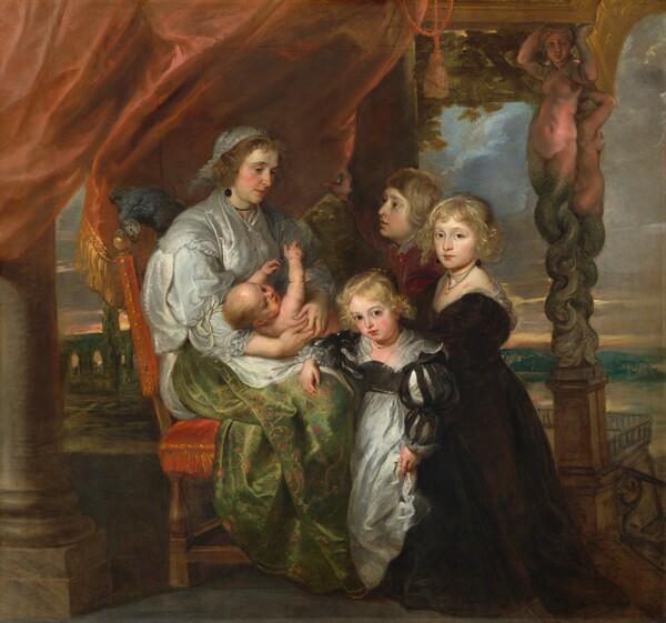 Deborah Kip, Wife of Sir Balthasar Gerbier, and Her Children