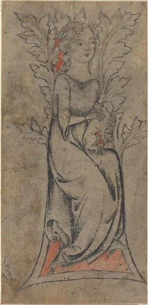 Seated Girl with a Dog