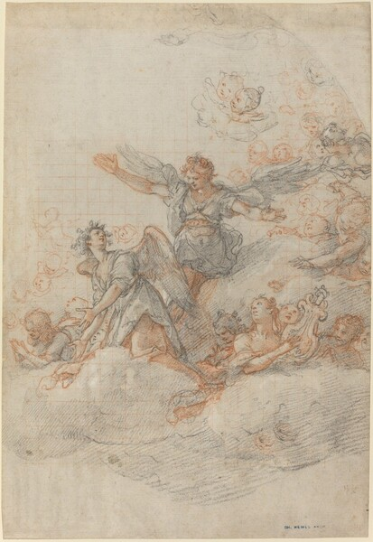 Angels and Putti in the Clouds