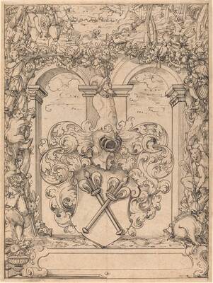Design for a Window (Hunting Scene)