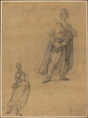 Two Studies of a Standing Woman