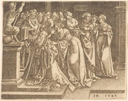 Solomon Worshipping Idols