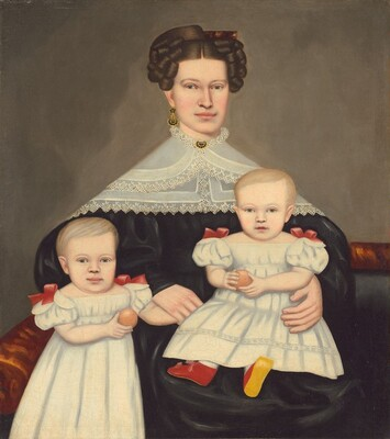 Mrs. Paul Smith Palmer and Her Twins