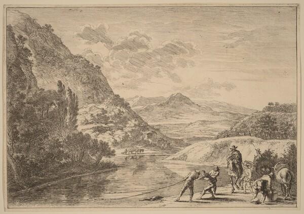 Fishermen at the Tiber, near the Soracte