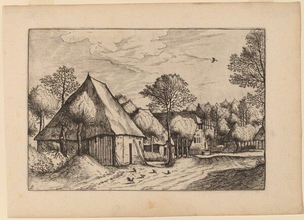 A Farmyard with a Draw Well