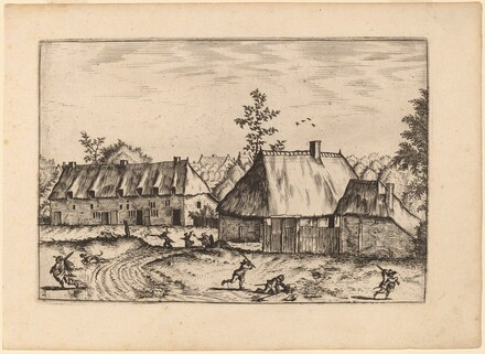 Farm and Row of Houses