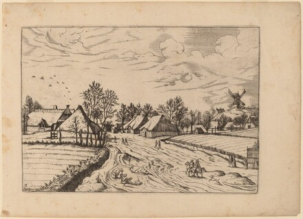 Country Village with Post Mill