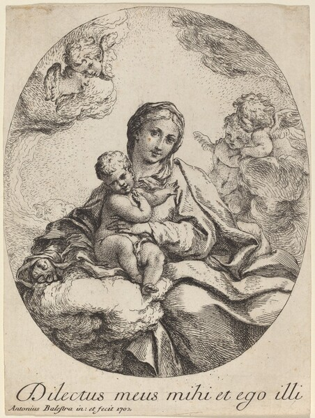 Virgin and Child on a Cloud