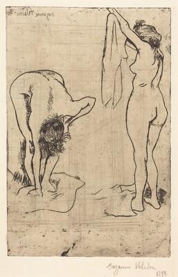 Femmes au bain