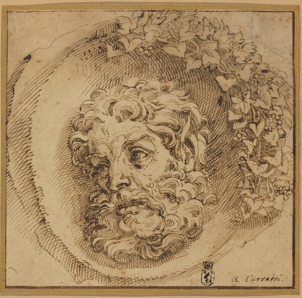 Head of a Faun in a Concave Roundel
