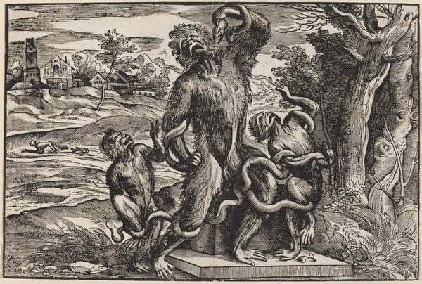 Caricature of the Laocoon Group