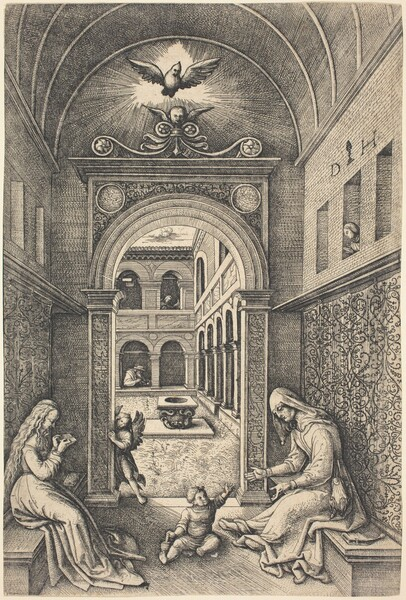 The Virgin and Child with Saint Anne by a Portal