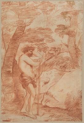 Standing Shepherd in a Landscape