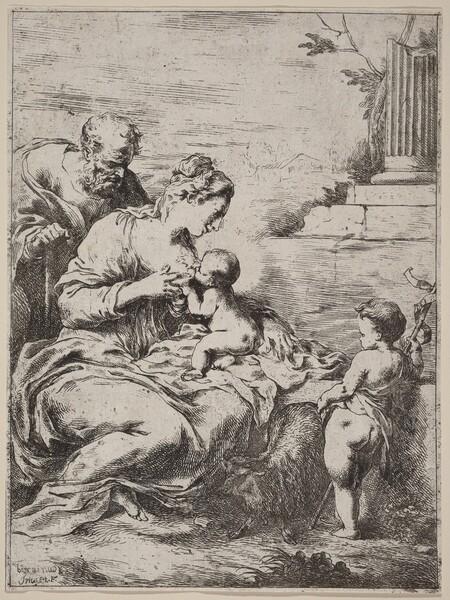 The Holy Family with Saint John