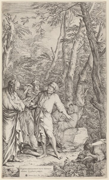 Diogenes Casting Away His Bowl