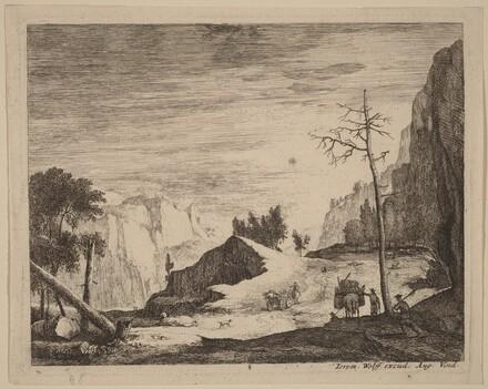 Mountainous Landscape with a Cart: pl.8