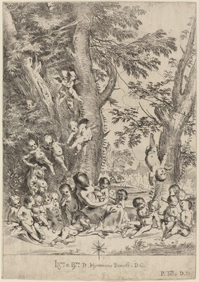 Young Woman, Surrounded by Cupids (The Garden of Charity, vertical version)