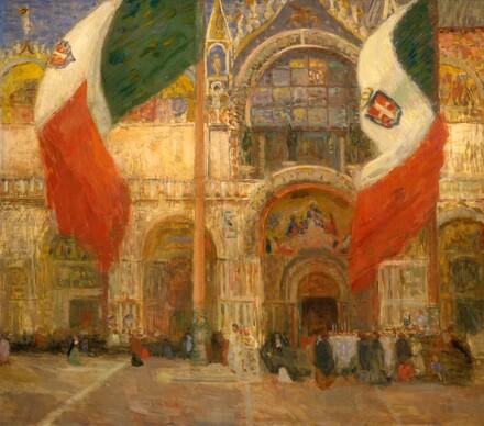 The Flags, Saint Mark's, Venice - Fête Day