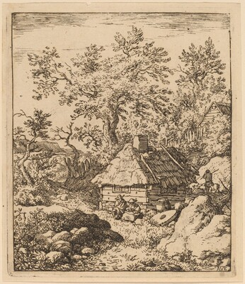 Landscape with Millstone near a Cask