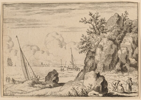 Seascape with Three Figures to the Right
