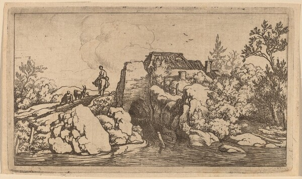 Horseman on a Stone Bridge