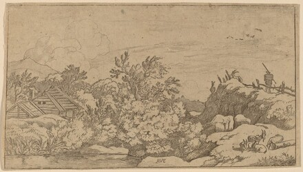 Goat Herd on a Hill