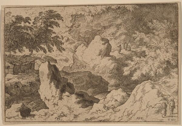 Three Men on a Rock