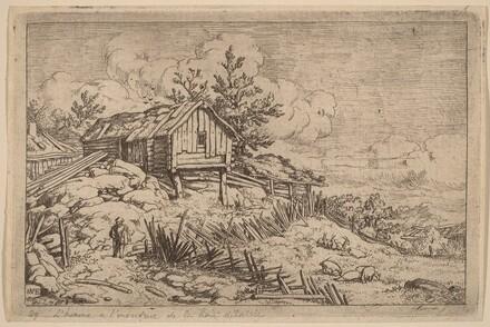 Man near Entry of a Ruinous Hedge