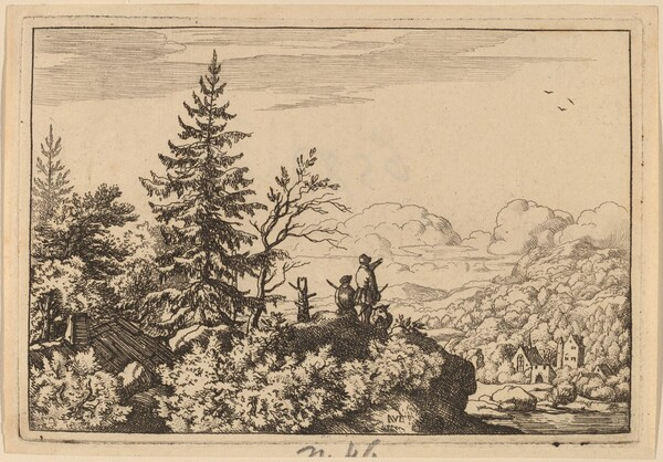 Two Men on a Hill