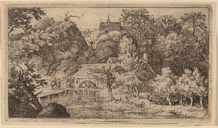 Water Mill at the Foot of a Mountain