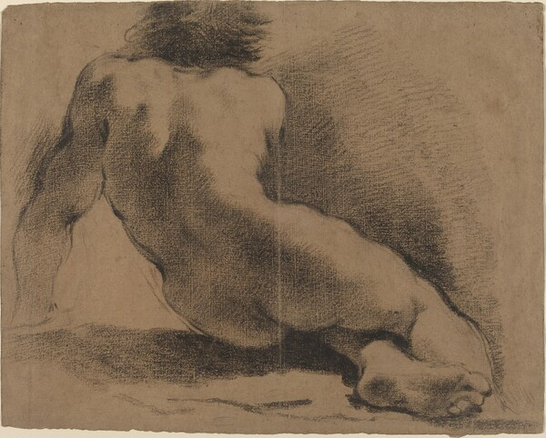 Seated Nude Boy Seen from the Back