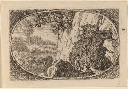Man and Woman at the Mouth of a Cave