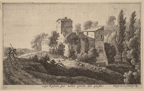 Farm beyond the Porta del Popolo
