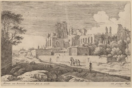 Landscape with Ruins and a Woman with a Parasol
