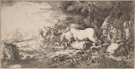 The Animals Going toward the Ark
