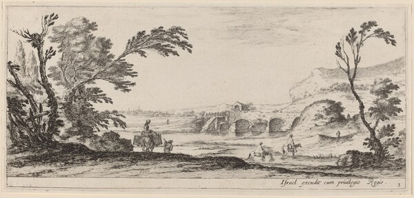 Travelers Fording a Stream