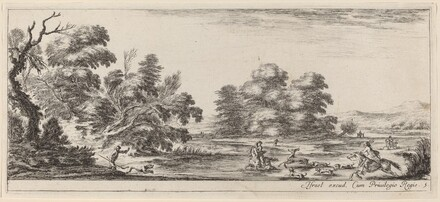 Landscape with Deer Hunt