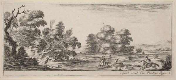 Landscape with Deer Hunt