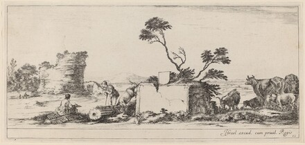 Campagna Scene with Artist Sketching