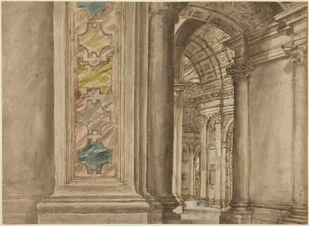 The Interior of Saint Peter's, Rome