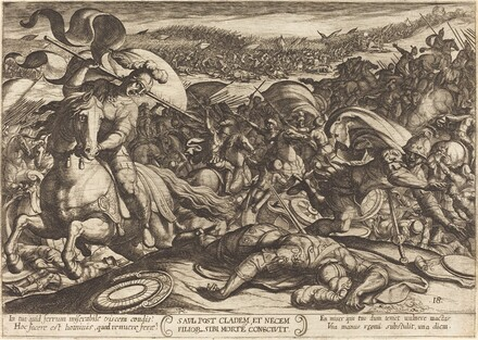 Saul Kills Himself after the Defeat of his Army by the Philistines