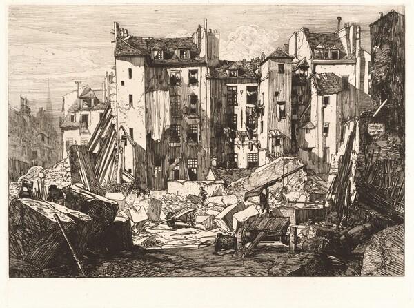 Demolition for the Opening of the rue des Ecoles (Demolitions pour le percement de la rue des Ecoles)